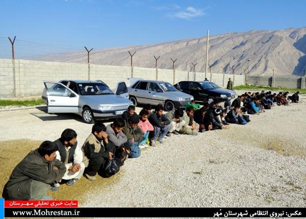 دستگیری 48 تبعه افغان در 4 خودرو!