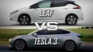 رقابت بسیار جدی بین تسلا و نیسان در فروش خودروهای برقی