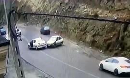 بررسی علت سرخوردن خودروها در جاده چالوس