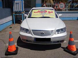 خودرو آزرا با سرعت 220 کیلومتر توسط پلیس راه توقیف شد