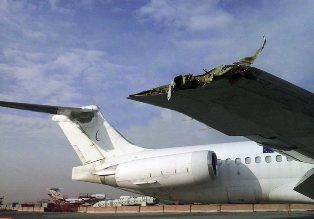 تصادف عجیب اتوبوس با هواپیما در مهرآباد