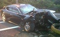 تصادف خودروی میلیاردی در شمال