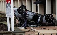 سقوط آئودی Q5 از طیقه چهارم پارکینگ طبقاتی