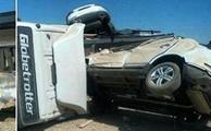 واژگونی تریلر حامل خودروهای جک در کرمان