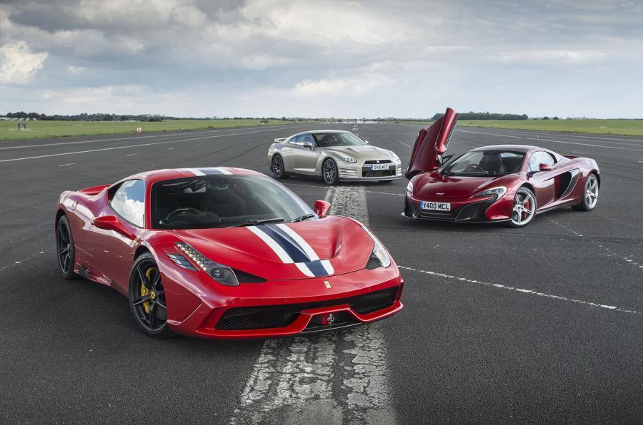 رقابت مهیج Nissan GT-R vs Ferrari458Speciale vs McLaren650S