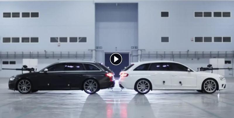 آئودی RS4 Avant و دوئل پینت بالی (HD)