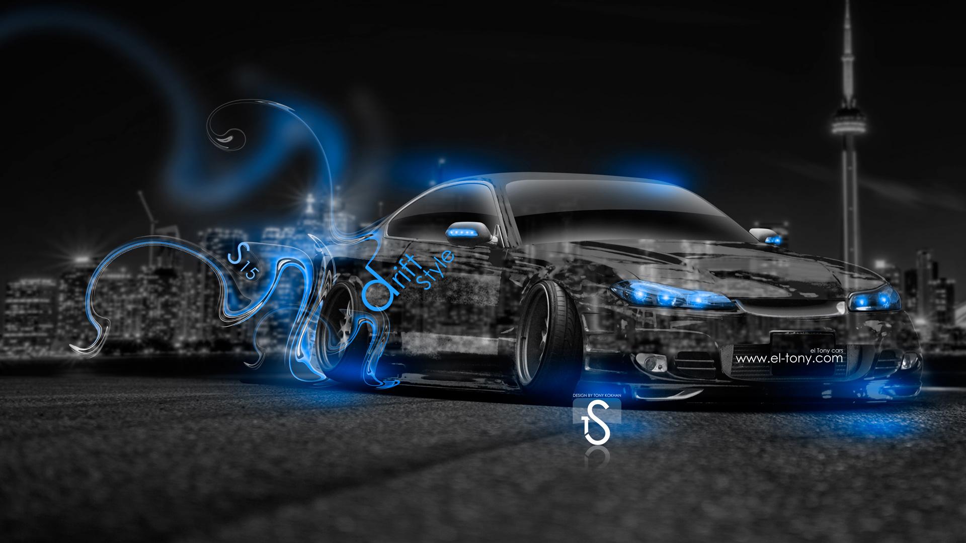 دریفت شبانه Nissan Skyline و Nissan Silvia