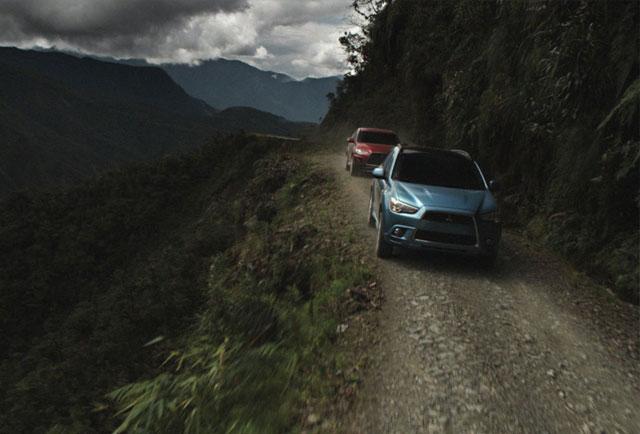 آزمون میتسوبیشی در خطرناکترین جاده جهان
