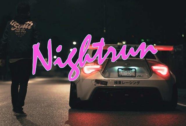 رانندگی با سایون تیونینگ شده در شب