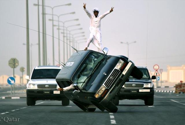 حرکت بر لبه مرگ و زندگی؛ بازی خطرناک جوانان عرب