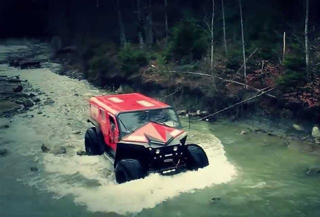 """Ghe-O Rescue خودرویی که """"هامر"""" را قورت میدهد"""